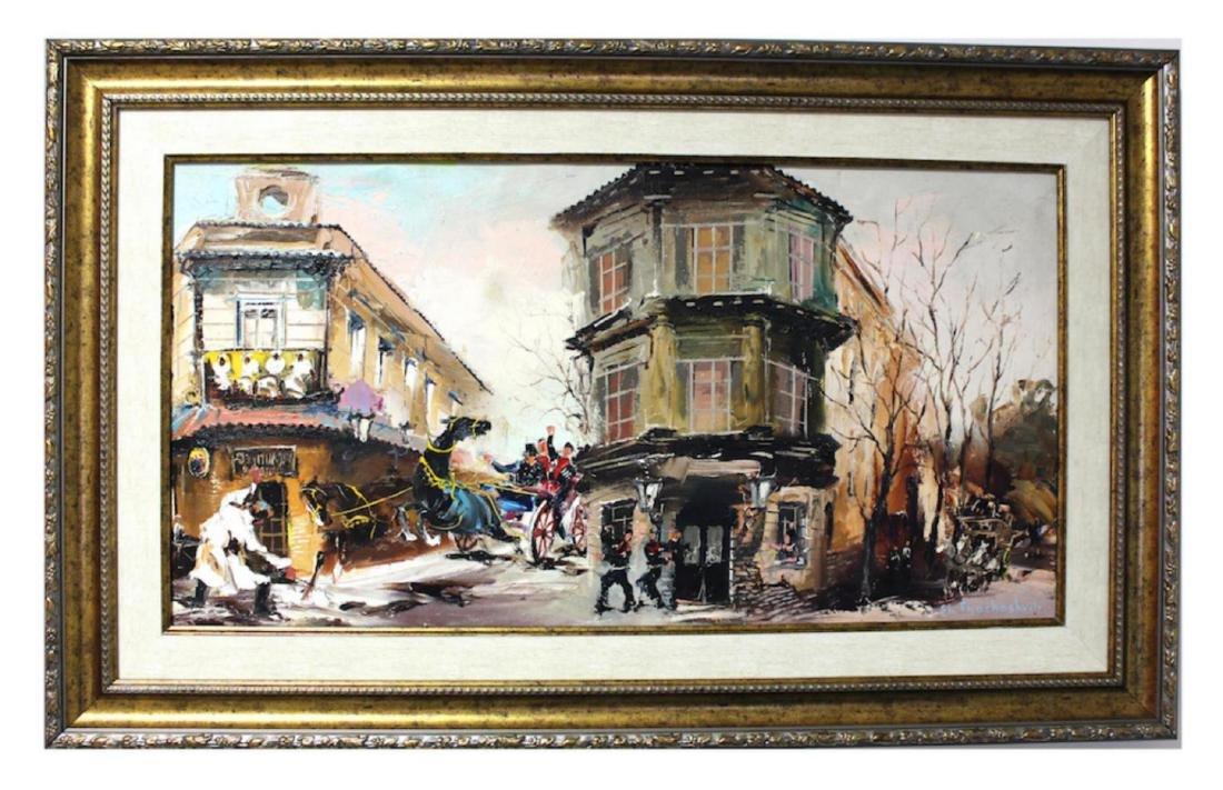 Shalva Phachoshvili Custom Framed Original oil on - 2