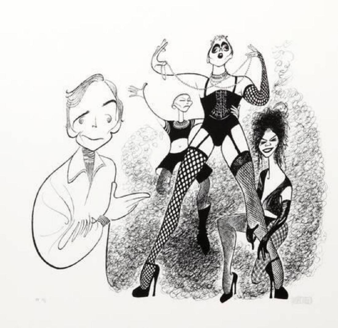 """Al Hirschfeld """"Rocky Horror Picture Show (Dick Cavet)"""""""