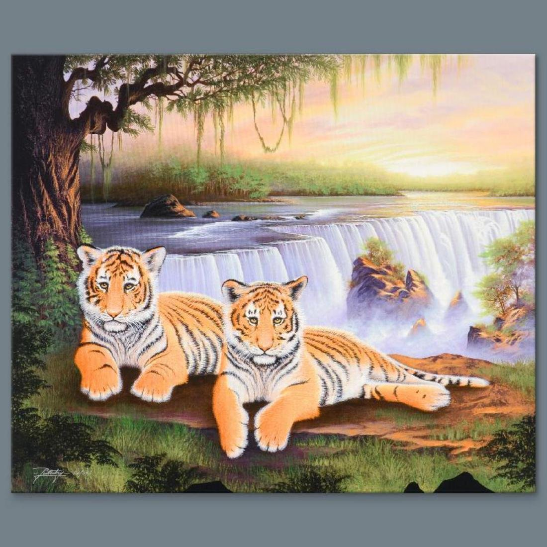 """Tiger Falls"" Limited Edition Giclee on Canvas by Jon"