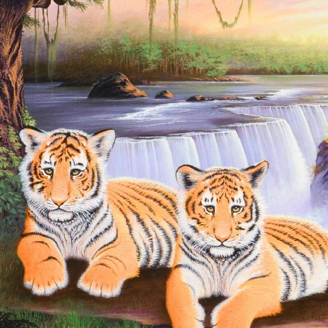 """Tiger Falls"" Limited Edition Giclee on Canvas by Jon - 2"