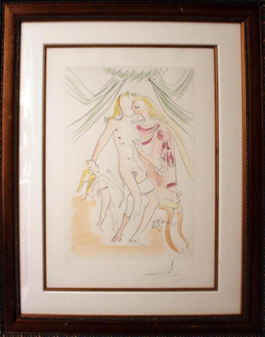 Salvador Dali- Venus, Mars et Cupidon Intaglio on Paper