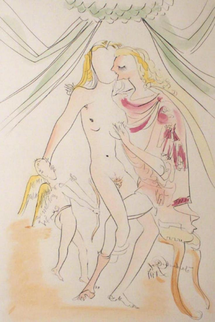Salvador Dali- Venus, Mars et Cupidon Intaglio on Paper - 2
