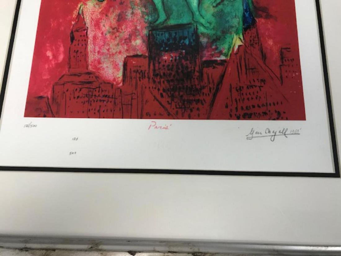 Marc Chagall Custom Framed Lithograph Limited Edition - 2