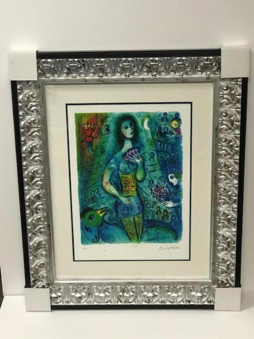 Marc Chagall Custom Framed Lithograph Limited Edition