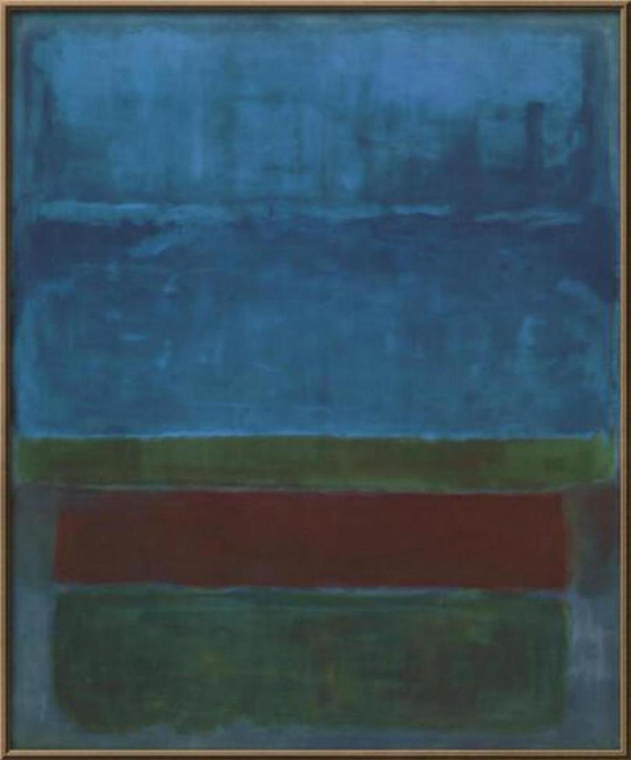 "Mark Rothko ""Untitled (Blue, Green, and Brown )"" Custom"