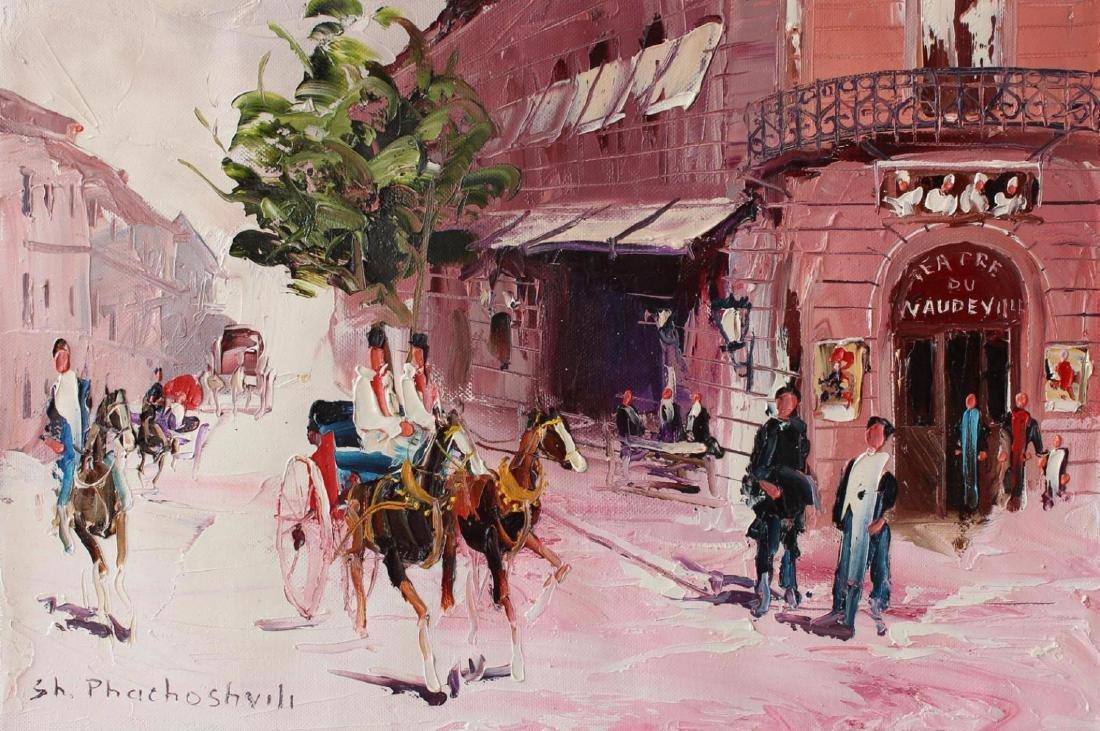 Shalva Phachoshvili- Tea House   Original oil on canvas