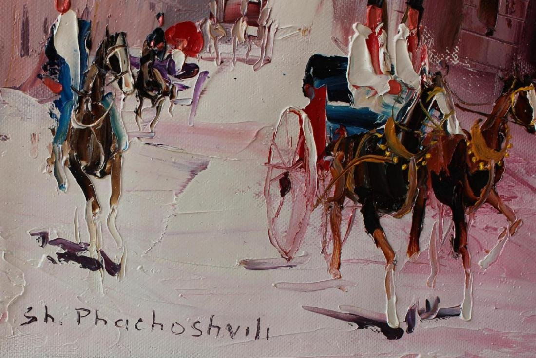 Shalva Phachoshvili- Tea House   Original oil on canvas - 2