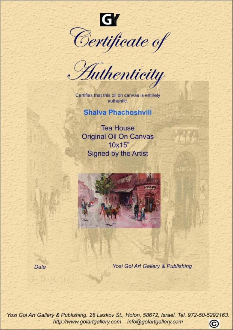 Shalva Phachoshvili- Tea House   Original oil on canvas - 3