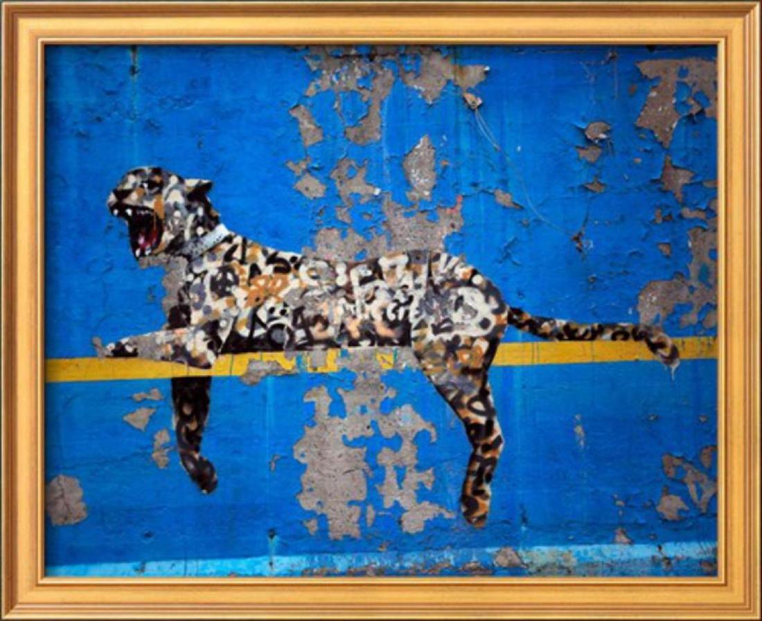 "Banksy ""Bronx Zoo"" Custom Framed"