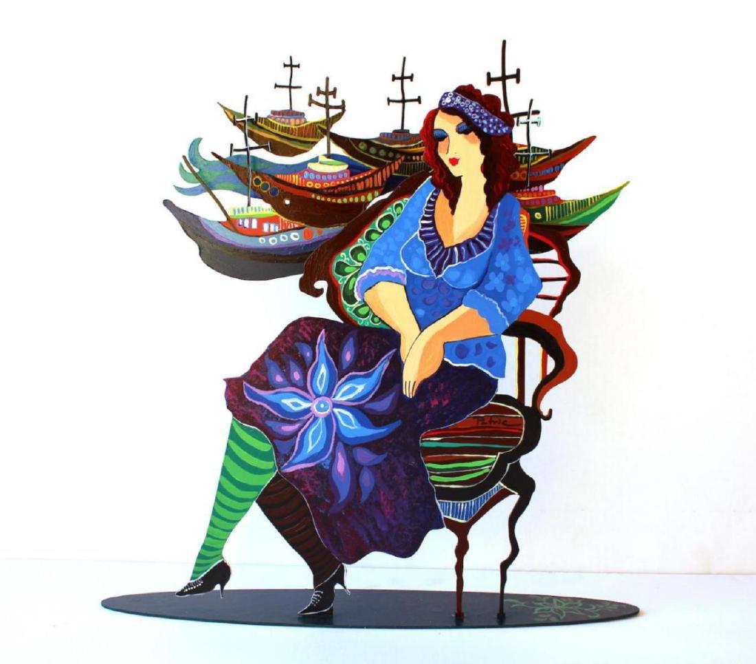 Patricia Govezensky- Original Painting on Cutout Steel