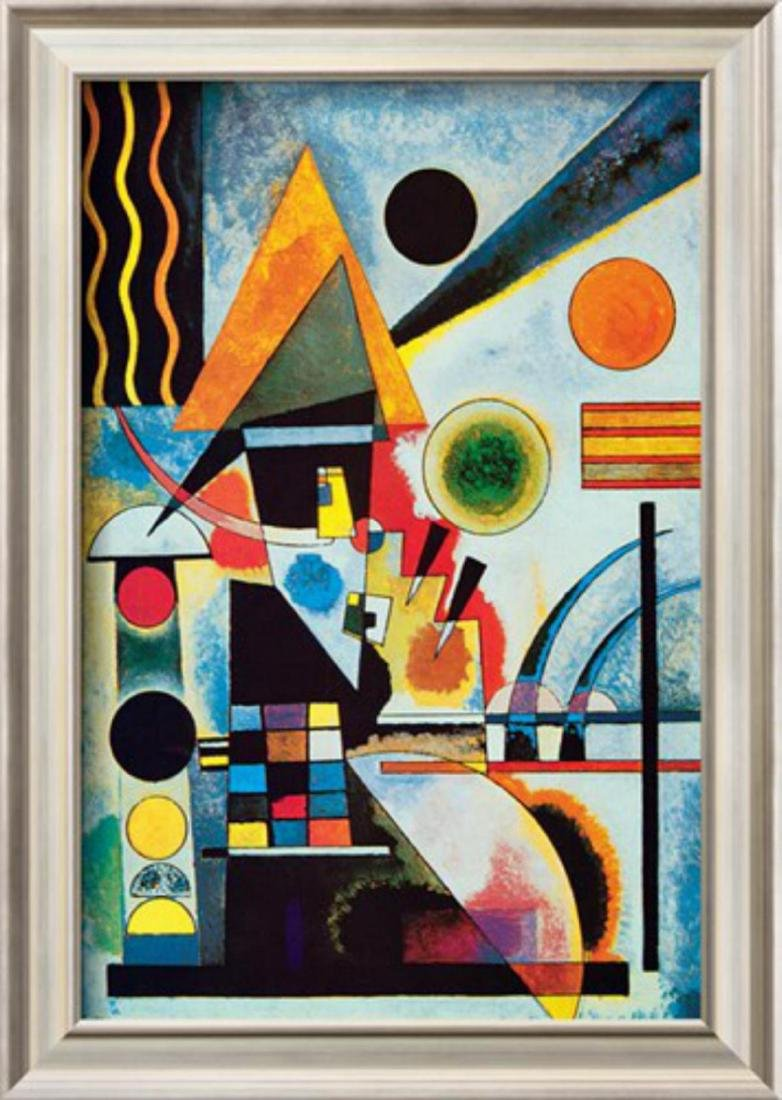 "Wassily Kandinsky ""Balancement"" Custom Framed Offset"