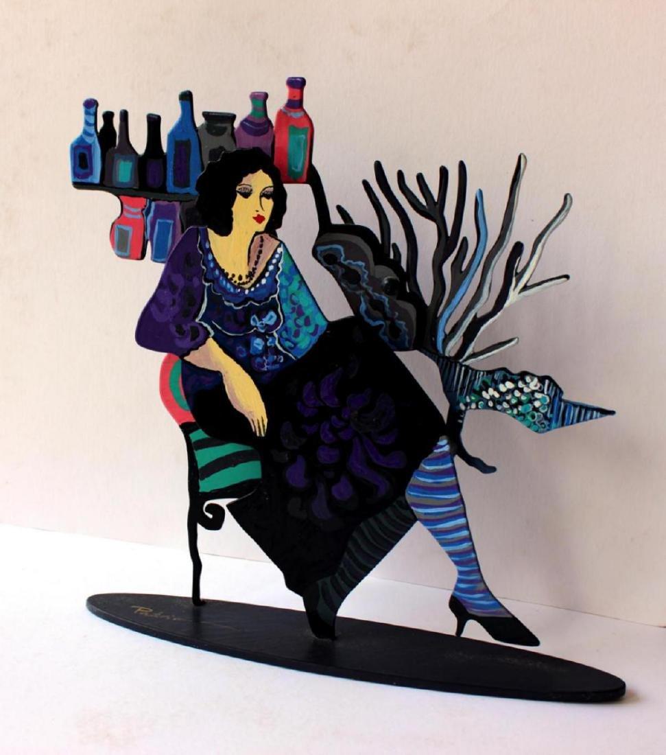 Patricia Govezensky Original Table Sculpture 3D cutout - 2
