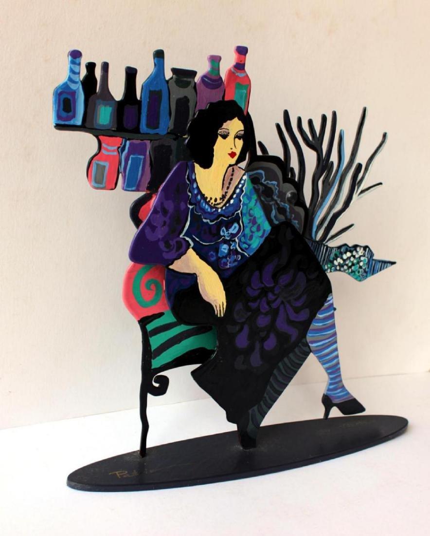 Patricia Govezensky Original Table Sculpture 3D cutout - 3