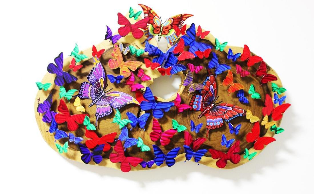 Patricia Govezensky- Original 3D Metal Art on Wood