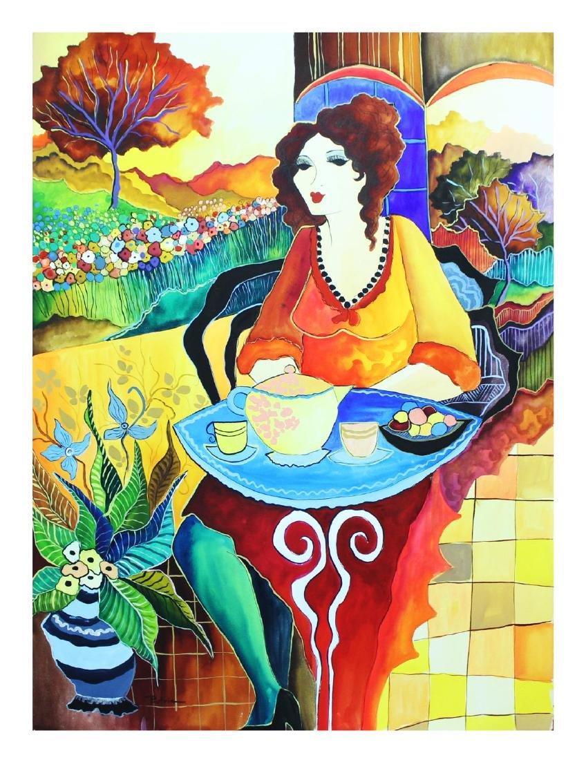 """Patricia Govezensky- Original Watercolor """"Quarter After"""