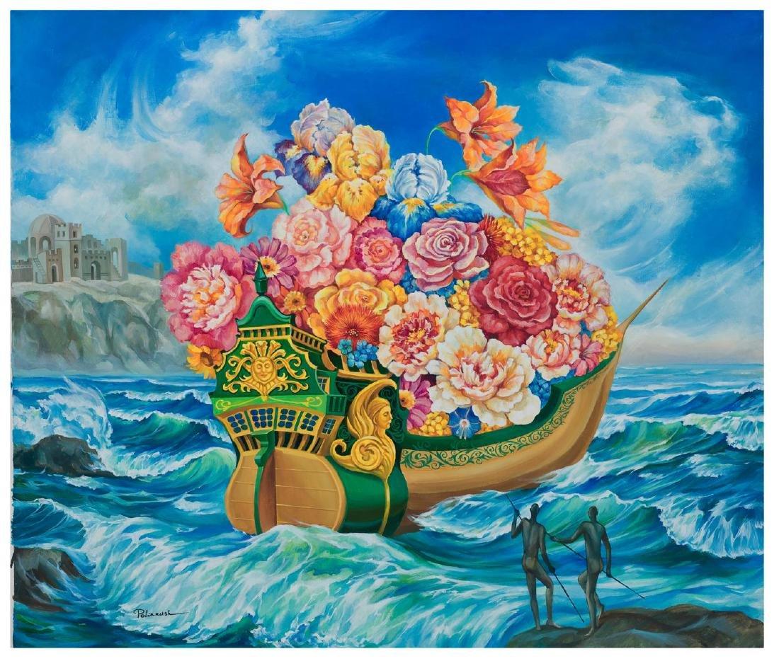 Eugene Poliarush Sailing Home Original oil on canvas