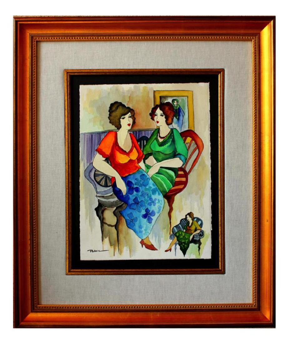 Patricia Govezensky Original Framed Watercolor Painting