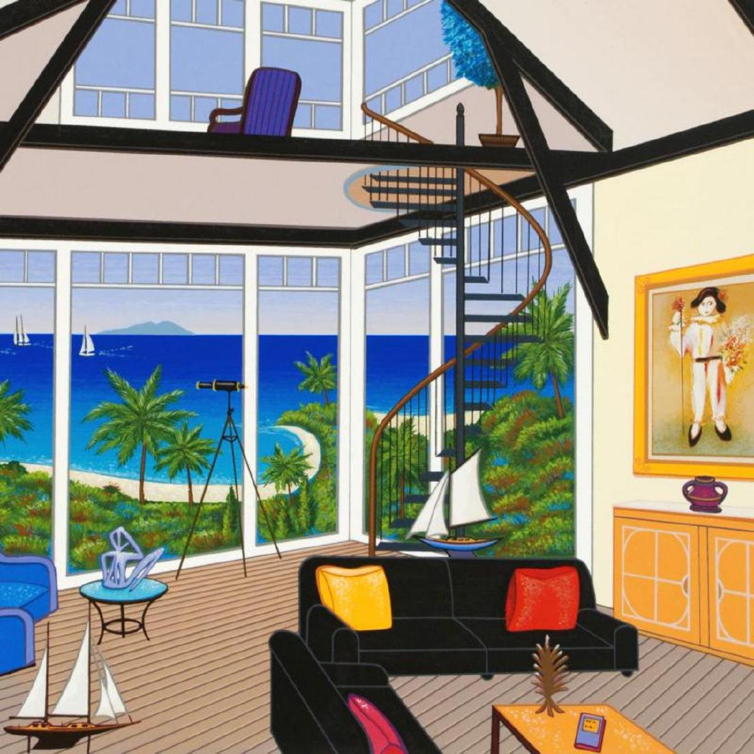 """Duplex Over Stinson"" Limited Edition Serigraph by - 2"
