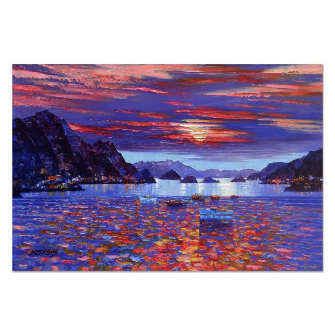 "Howard Behrens (1933-2014) - ""Amalfi Sunset"" Hand"