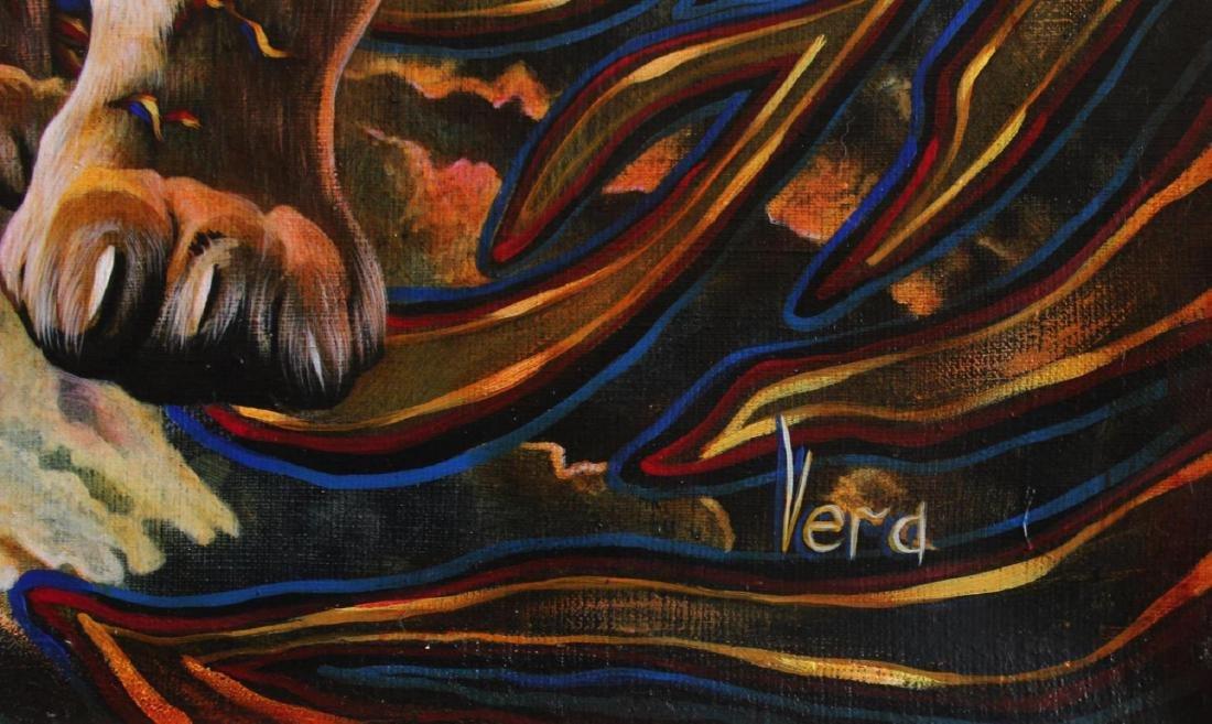 "Vera V. Goncharenko Original Oil on Canvas ""Wild Tiger"" - 2"
