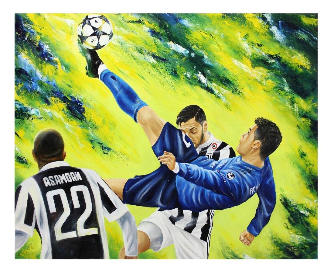 "Turchinsky Dimitry- Original Oil on Canvas ""Ronaldo's"
