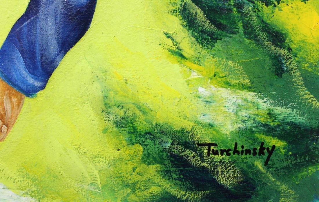 "Turchinsky Dimitry- Original Oil on Canvas ""Ronaldo's - 2"