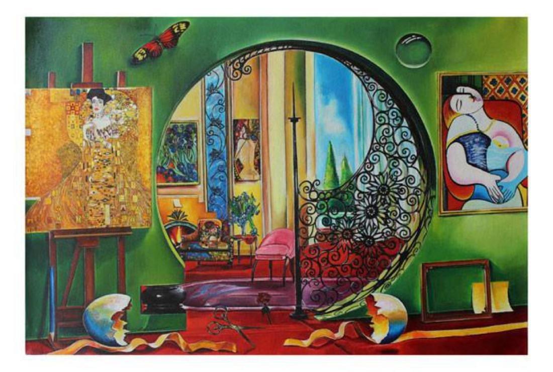 "Alexander Astahov- Original Oil on Canvas ""Woman in"