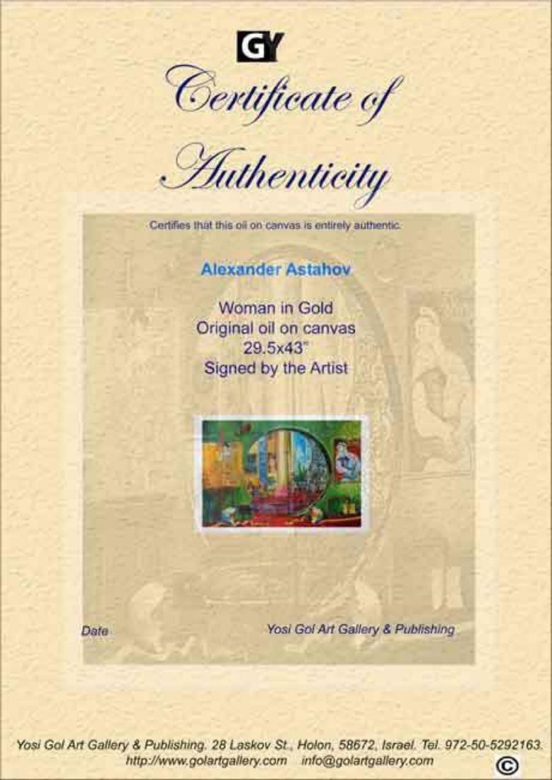 "Alexander Astahov- Original Oil on Canvas ""Woman in - 2"