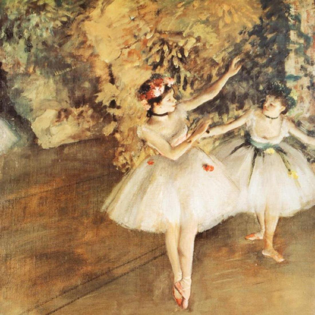 """Two Ballerinas"" Fine Art Print by Degas (1834-1917), - 2"