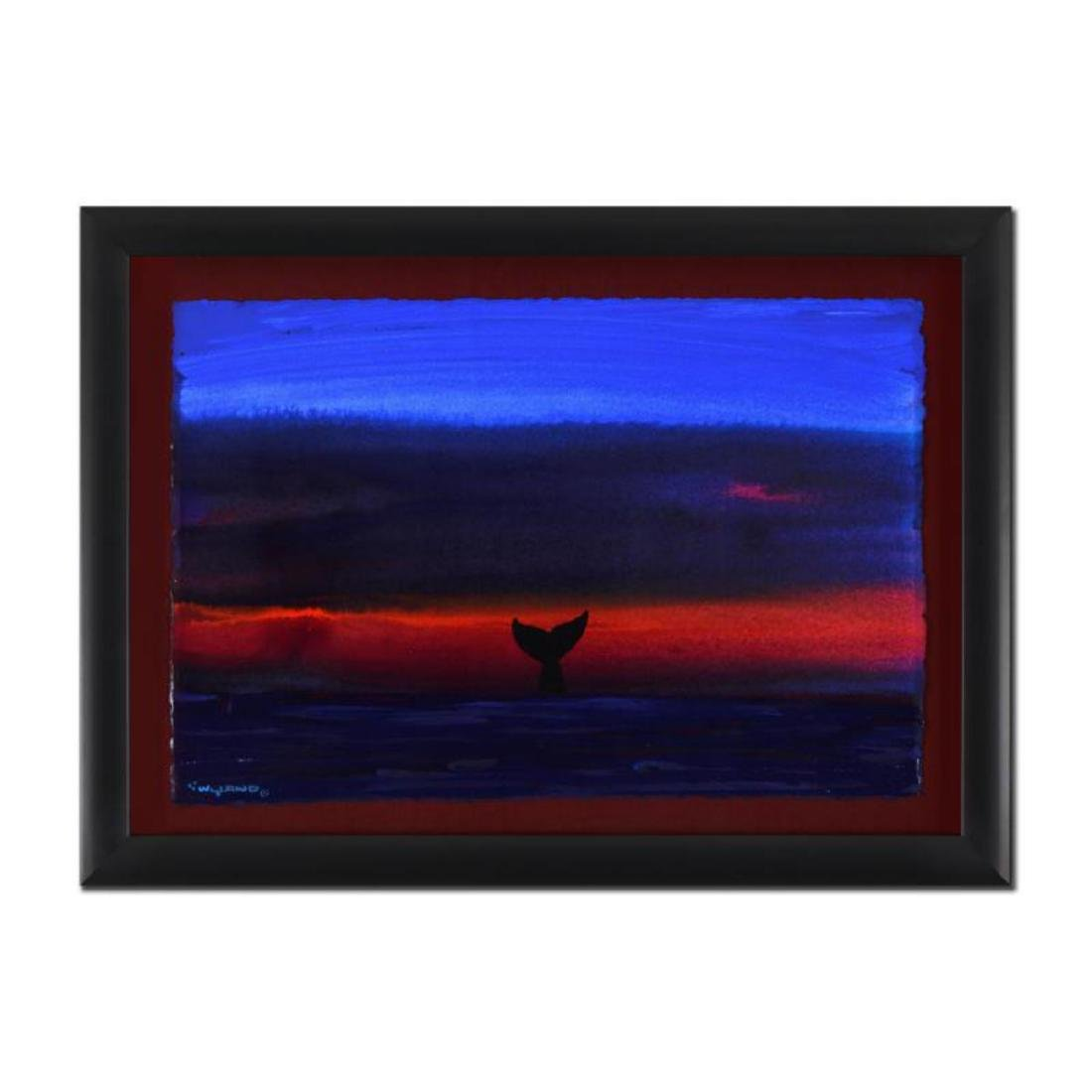 """Wyland - """"Whale Tail"""" Framed Original Watercolor"""