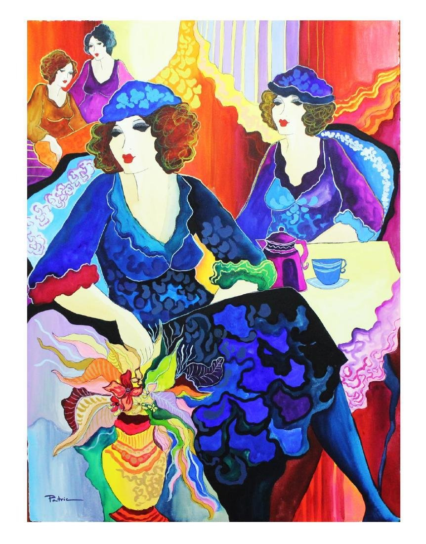 "Patricia Govezensky- Original Watercolor ""Parisian"