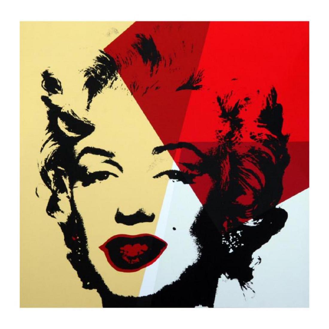 "Andy Warhol ""Golden Marilyn 11.42"" Limited Edition Silk"