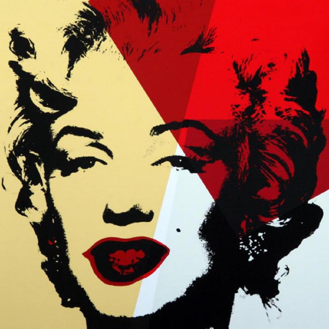 "Andy Warhol ""Golden Marilyn 11.42"" Limited Edition Silk - 2"