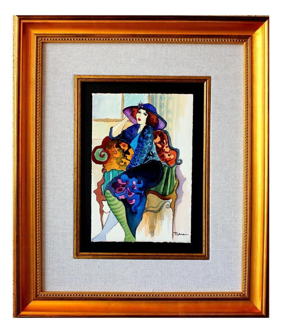 "Patricia Govezensky- Original Watercolor ""Touch of"