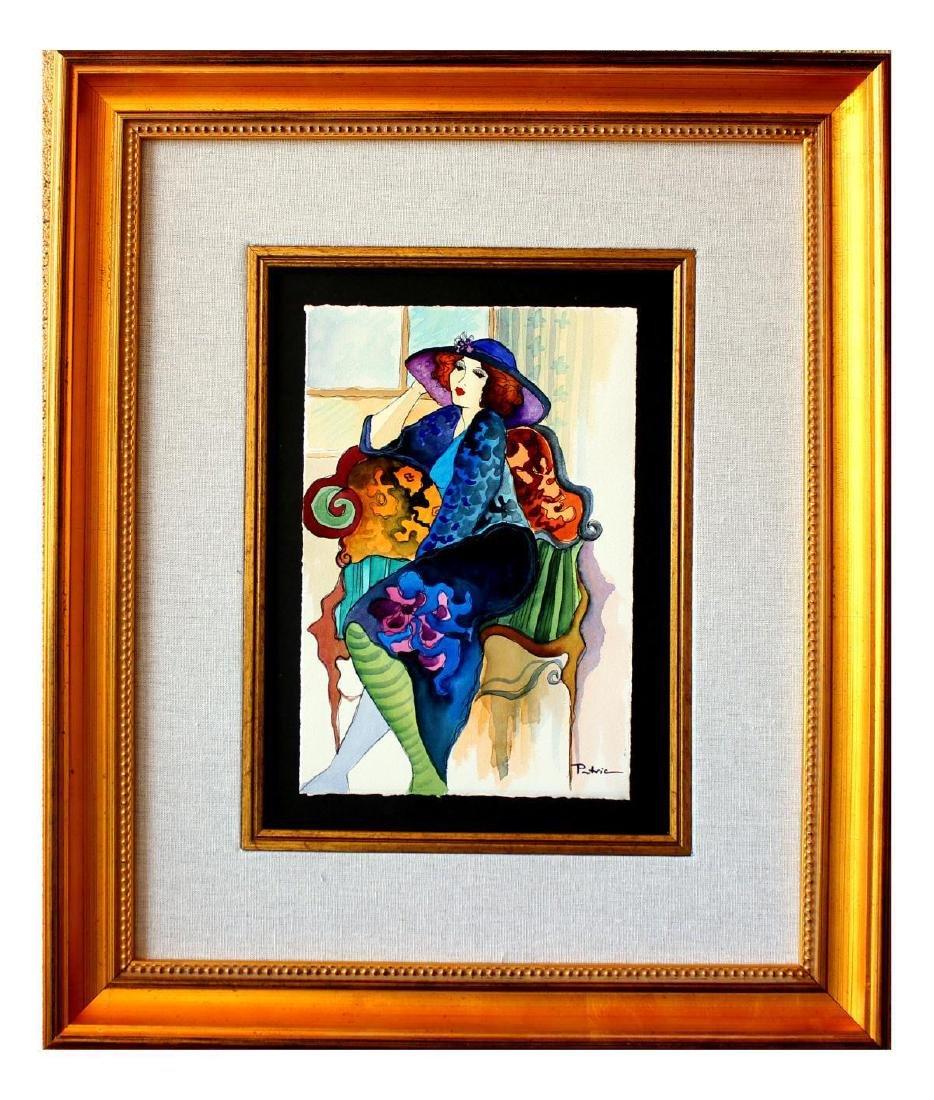 "Patricia Govezensky- Original Watercolor ""Touch of - 2"