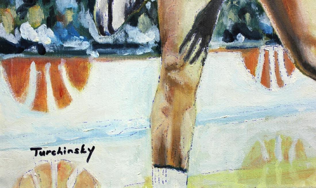 "Turchinsky Dimitry- Original Oil on Canvas ""Jordan Vs. - 2"