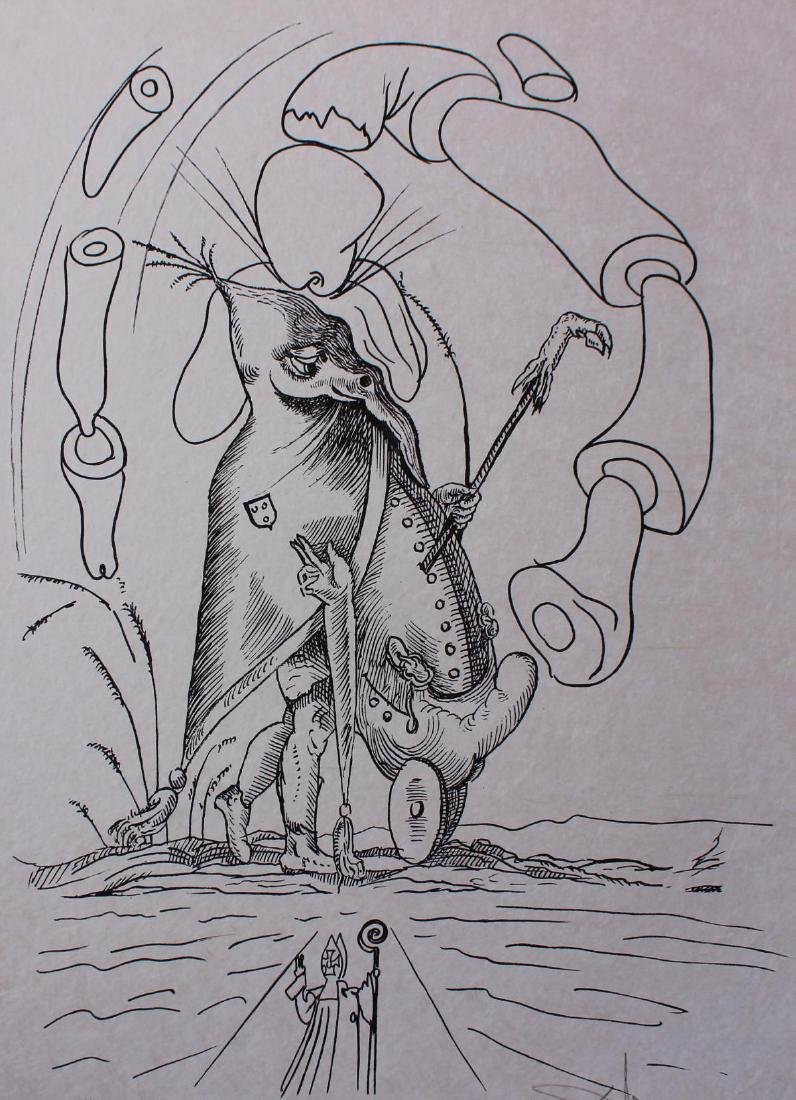 Salvador Dali- Original Lithograph from Gouache and - 2