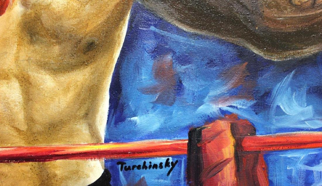 "Turchinsky Dimitry- Original Oil on Canvas ""Iron Mike - 2"