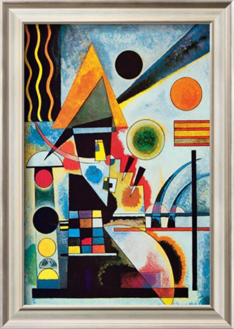 """Wassily Kandinsky """"Balancement"""" Custom Framed Offset"""