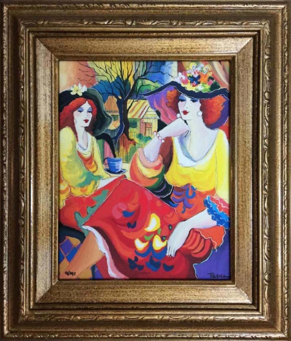 "Patricia Govezensky- Original Giclee on Canvas ""Friends"