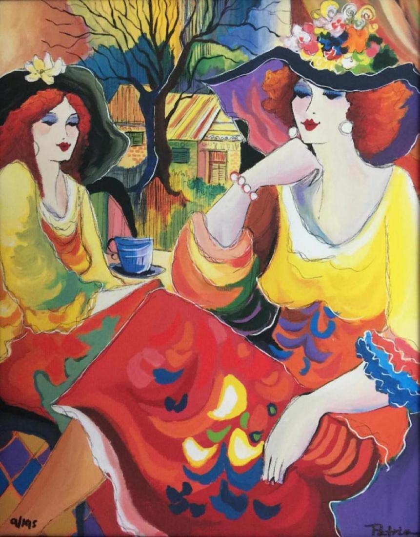 "Patricia Govezensky- Original Giclee on Canvas ""Friends - 2"