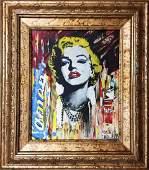 "Nastya Rovenskaya- Original Giclee on Canvas ""Marilyn"