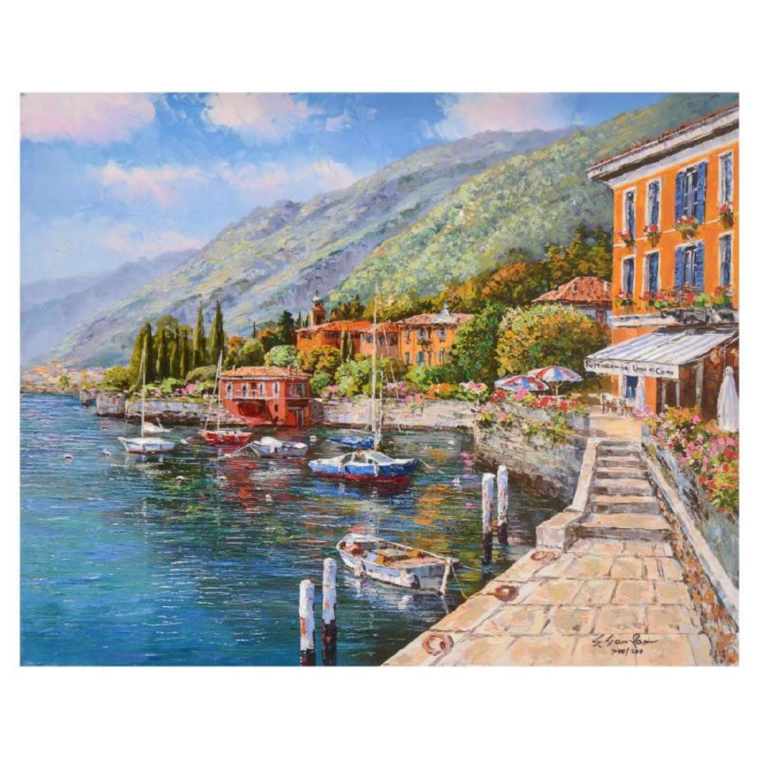 "Park, ""Lake Como"" Hand Embellished Limited Edition"