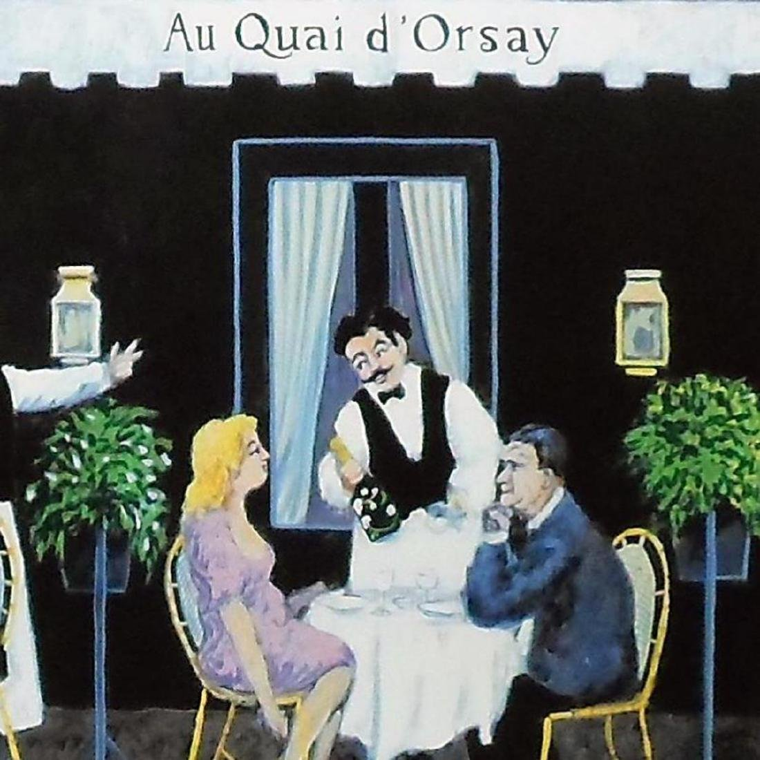 """Guy Buffet - """"Au Qui D Orsay"""" Limited Edition Serigraph; - 2"""