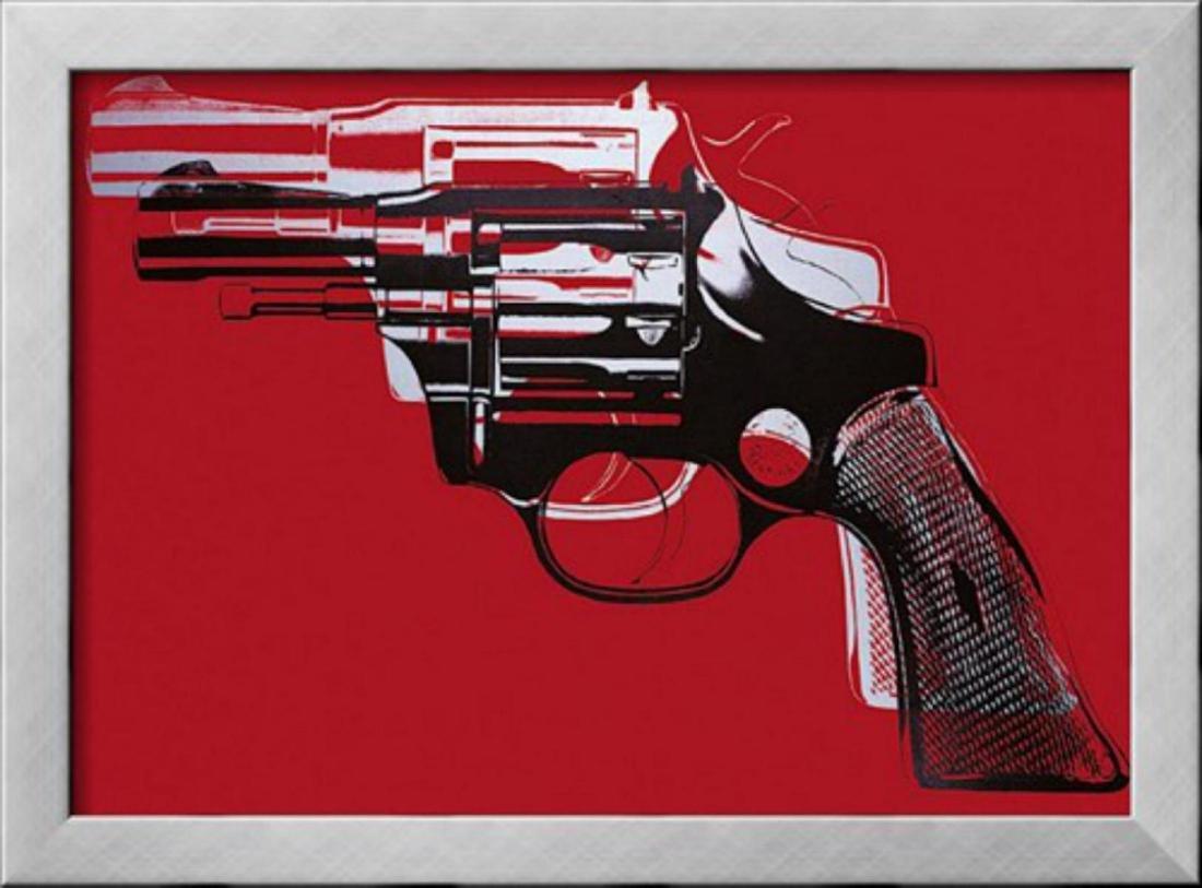"Andy Warhol ""Guns"" Custom Framed Offset Lithograph"