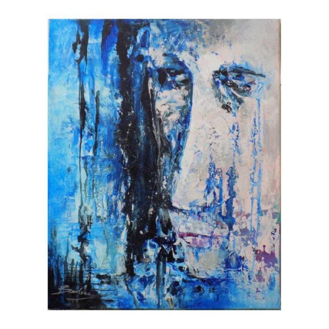 "Berberyan, ""Underwater"" Original Mixed Media on Canvas"