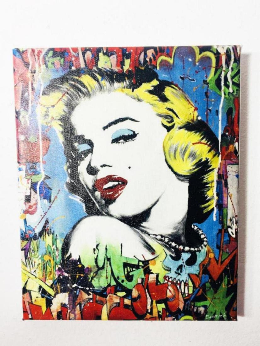 """Nastya Rovenskaya- Mixed Media """"Marilyn Monroe"""""""