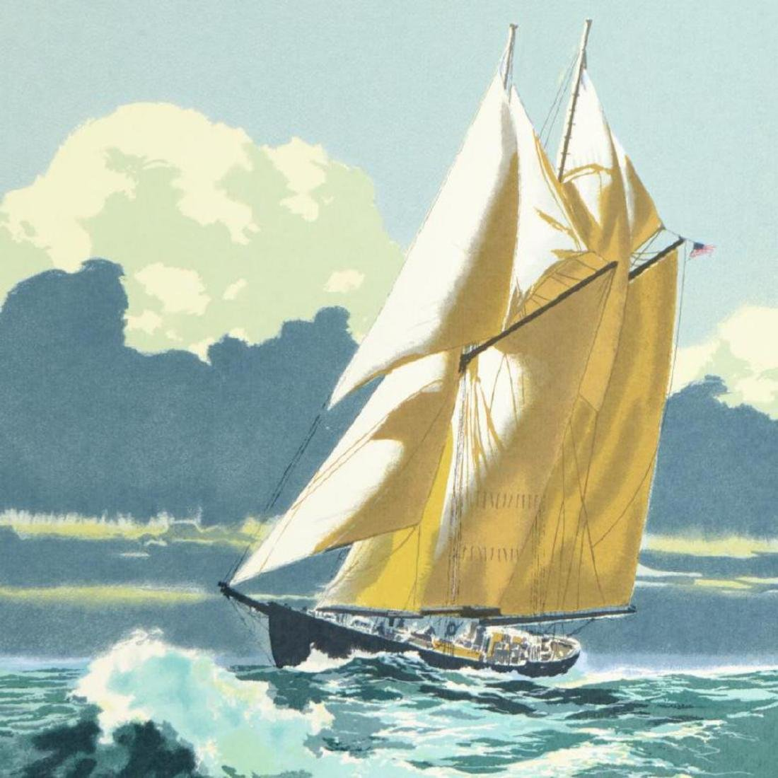 """""""Gloucester Fisherman"""" Limited Edition Serigraph by - 2"""