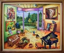 "Alexander Astahov- Original Oil on Canvas ""Time"""