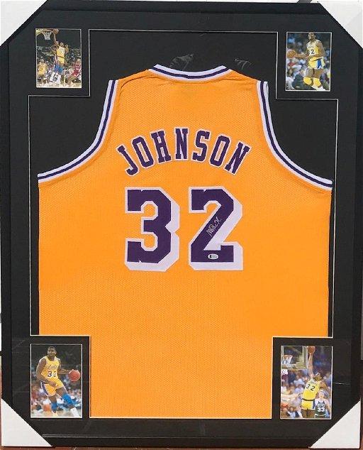 huge discount 8a17c 2da0b Magic Johnson Custom Framed Jersey - Oct 21, 2018 ...